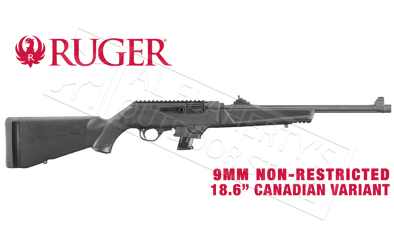 Ruger PC Carbine Canadian Non-Restricted Variant, 9mm 18 6
