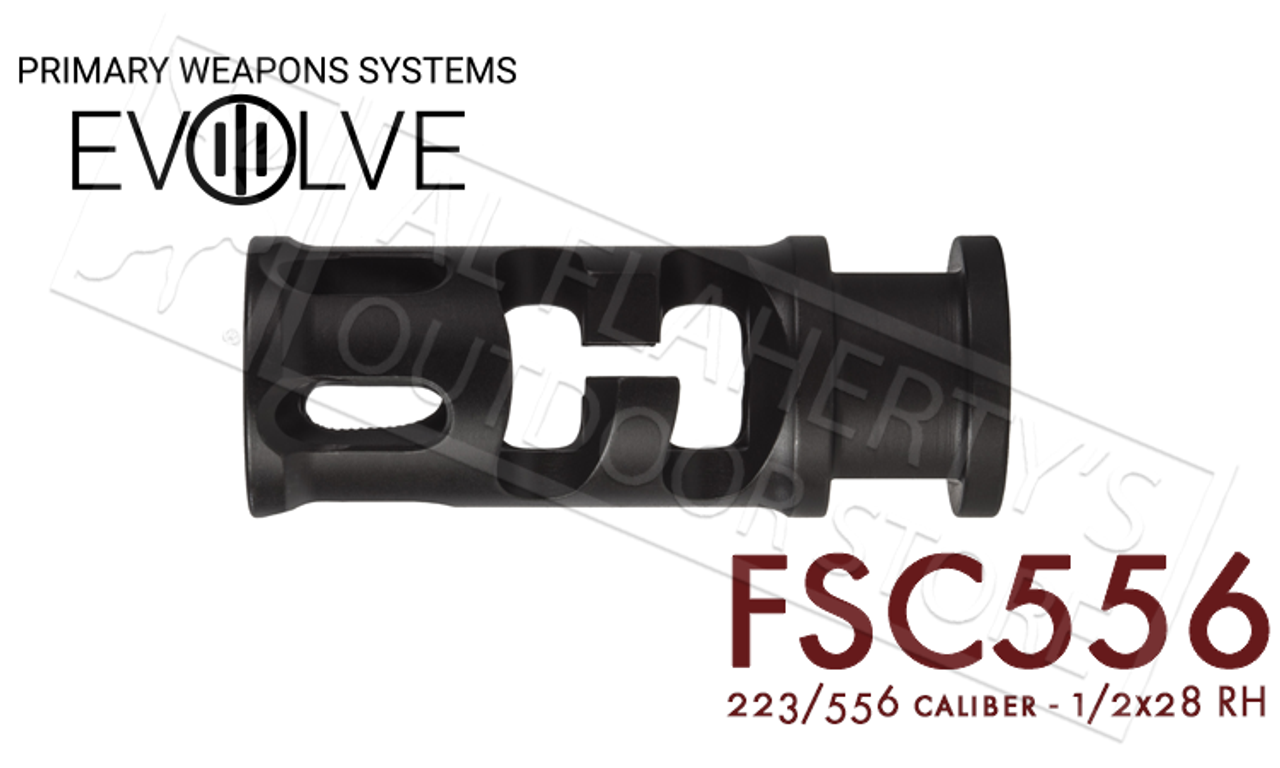 New PWS Primary Weapon Systems FSC556 Comp 1//2x28 Threads .223 Caliber