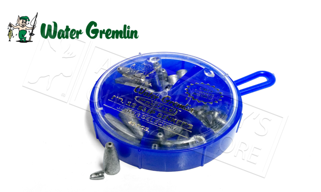 Size 4 Water Gremlin Removable Split Shot Super Pak Sporting Goods  USA Design