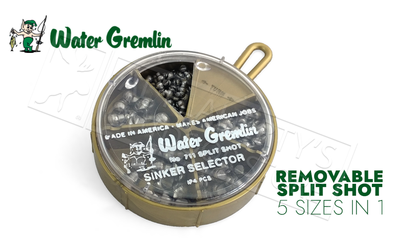 Water Gremlin No 700 Removable Split Shot Sinker Selector 78 pcs.