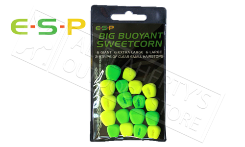 E-S-P Big Buoyant Sweetcorn - Artificial, Green & Yellow 18 Kernels #ESCORN-G