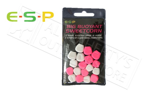 E-S-P Big Buoyant Sweetcorn - Artificial, Pink & White 18 Kernels #ESCORN-P