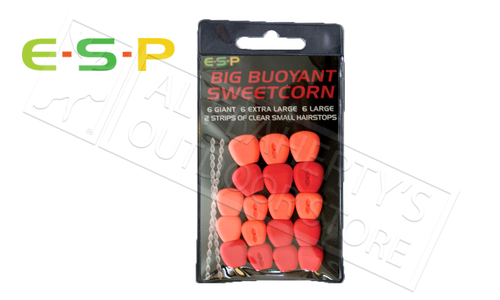 E-S-P Big Buoyant Sweetcorn - Artificial, Red & Orange 18 Kernels #ESCORN-R