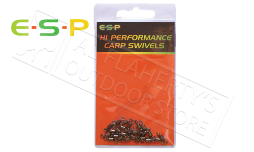 E-S-P Hi Performance Carp Swivels - Size 9 Pack of 20 #ESCSWL