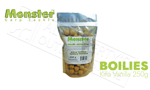 Monster Boilies - Killa Vanilla 16mm, 250 grams #MCB16M-V