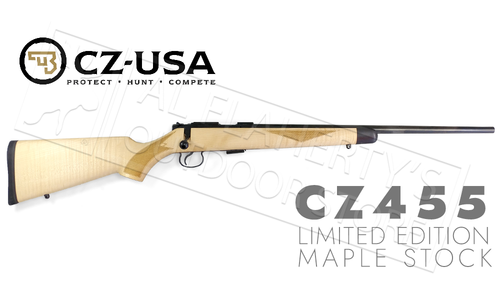 CZ 455 Limited Edition Maple Stock Rifle 22LR #50748005ZFAMAAX