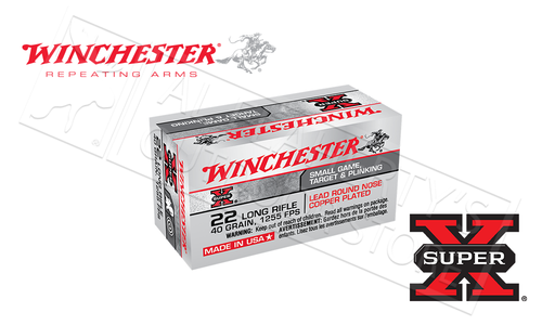 Winchester 22LR Super-X Copper Jacketed 40 Grain Box of 50 #X22LR