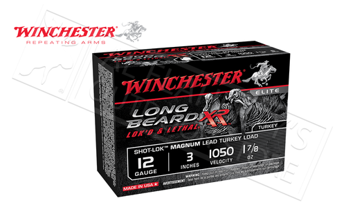 "Winchester Long Beard XL Magnum Turkey Shells 12 Gauge 3"" 1-7/8 oz., #4 or #5 Shot Box of 10 #STLB123M"