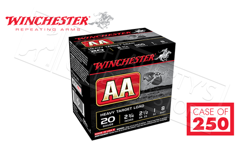 "(Store Pick Up Only) Winchester AA Heavy Target Load 20 Gauge #8, 2-3/4"" Case of 250 Shells #AAH208CASE"