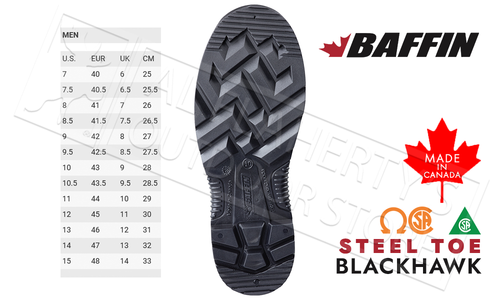 Baffin Blackhawk Safety Toe Rubber Boot #BLICOMP01