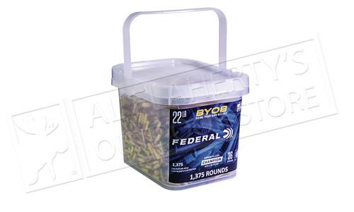 Federal Ammunition Bring Your Own Bucket Rimfire Ammo 22 LR, Copper Plated HP, 36 Gr, 1375 Rnd Bucket #750BKT1375