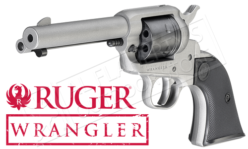 Ruger Wrangler Single-Action Revolver in Silver Cerakote 22LR #2003
