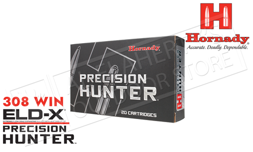 Hornady 308 WIN ELD-X Precision Hunter, Polymer Tip 178 Grain Box of 20 #80994