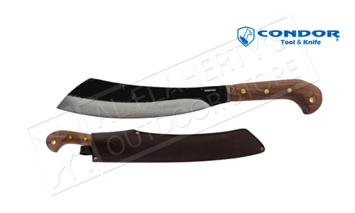 "Condor TK Duku Mini Parang Machette with Leather Sheath and 10.5"" Blade #CTK426-10.5HC"