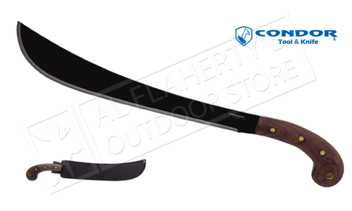 "Condor TK Golok Machete with Leather Sheath and 14.5"" Blade #CTK410-14HCS"