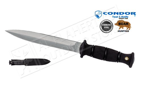 "Condor TK Boar Dagger with Leather Sheath and 7.5"" Blade #CTK245-8"