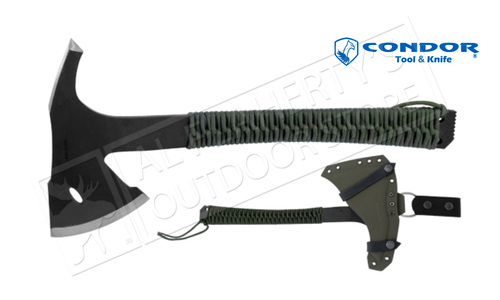 "Condor TK Sentinel Axe with Army Green Paracord Wrap - 14.4"" Overall Length #CTK1809-3.6"