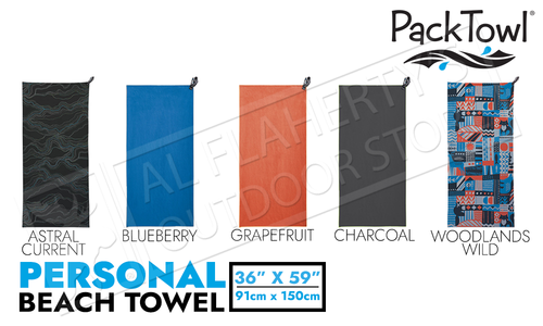 "PackTowl Personal Beach Towel - Various Patterns 36"" x 59"""