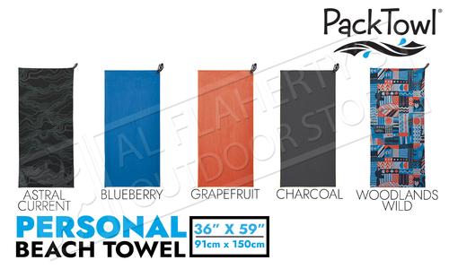 "PackTowl Personal Beach Towel - Various Patterns 36"" x 59"""