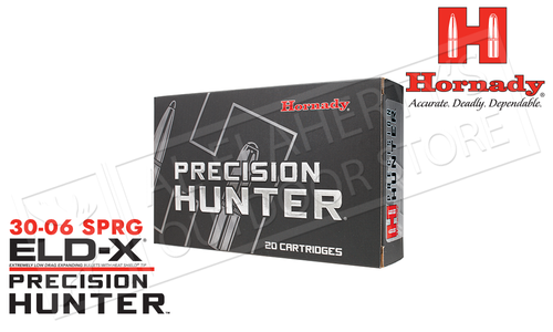 Hornady 30-06 SPRG ELD-X Precision Hunter, Polymer Tip 178 Grain Box of 20 #81174