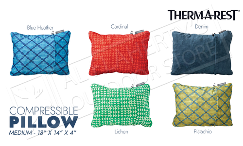 Therm-A-Rest Compressible Pillow - Various Patterns Size Medium #PILLMD