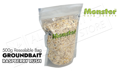 Monster Carp Groundbait - Raspberry Rush 500g Bag #MCGBRR