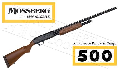 "Mossberg 500 Hunting All Purpose Field Shotgun, 20 Gauge 26"" Barrel #50136"