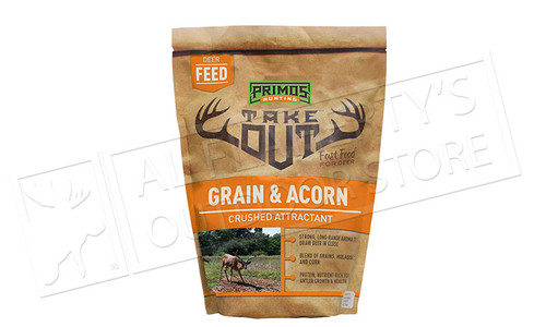 Primos Hunting Deer Feed Take Out Red Zone - Grain & Acorn Crushed Attractant