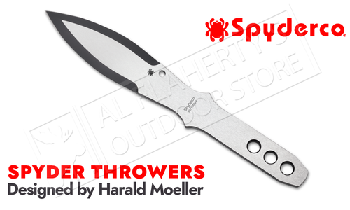 Spyderco Spyder Throwers - 3 Medium Throwing Knives with Sheath #TK01MD