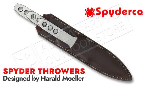 Spyderco Spyder Throwers - 3 Medium Throwing Knives with Sheath #TK01MD