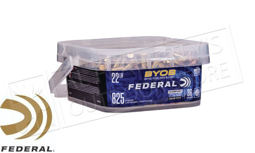 Federal Ammunition Bring Your Own Bucket Rimfire Ammo 22 LR, Copper Plated HP, 36 Gr, 825 Rnd Bucket #750BKT825