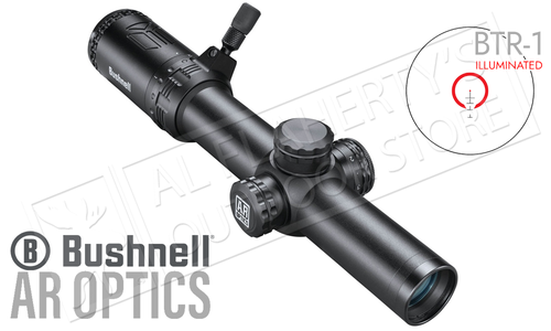 Bushnell AR Optics Scope 1-6x24 with BTR-1 Illuminated Reticle #AR71624I