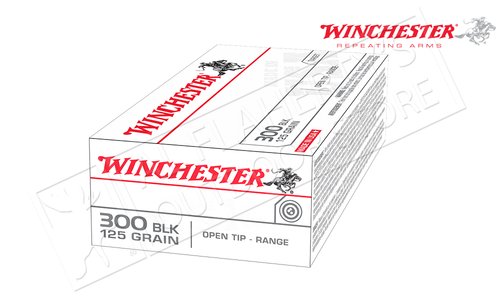 Winchester 300 Blackout White Box, FMJ 125 Grain Box of 20 #USA300BLK