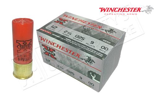 "Winchester Super-X Value Pack Buckshot for Deer 12 Gauge 2-3/4"", 00-Buck 15 Pellet Box of 15 #XB1200VP"