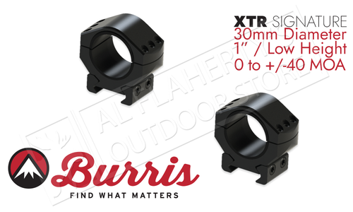 "Burris XTR Signature Rings, 30mm Diameter 1"" Height Customizable Cant #420221"