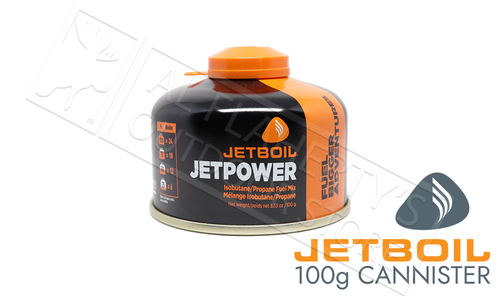 Jetboil JetPower Isobutane Propane Fuel Mix - 100 gram / 3.53 oz. #JETPWR-100-CA
