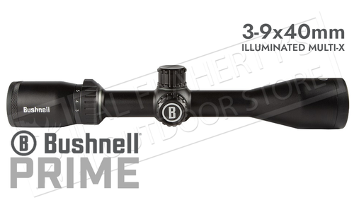 Bushnell Prime 3-9x40mm Scope Illuminated with Multi-X Reticle #RP3940BS9