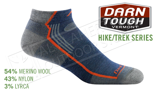 Darn Tough Sock Hike/Trek No Show Fit in Denim Pattern #1963