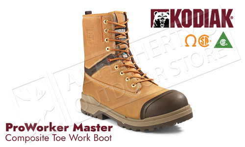 Kodiak ProWorker Master - Leather with Composite Toe 8 Inch Work Boot #KD0A4NK3