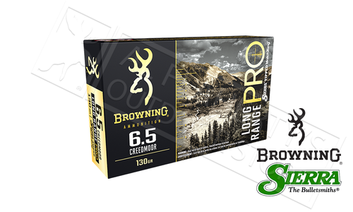 Browning Ammo 6.5 Creedmoor Long Range Pro, 130 Grain Box of 20 #B192500651