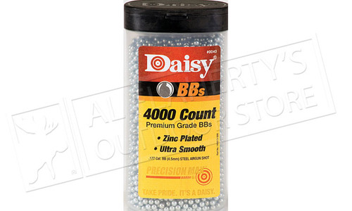 Daisy .177 BB Zinc Plated Steel, Bottle of 4000 #980040446