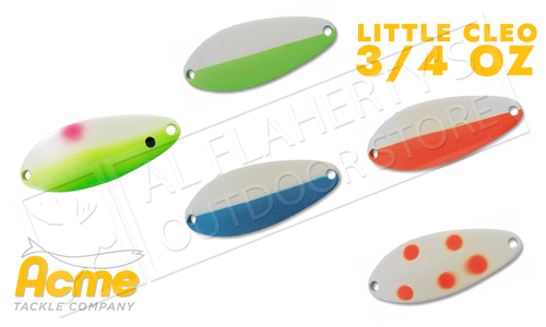 Acme Tackle Little Cleo Spoons - Glowing 3/4 Oz. Various Patterns #C-340