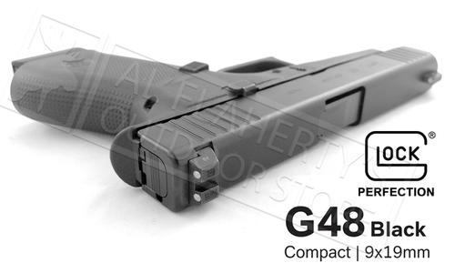Glock 48 Black with Steel Night Sights 9mm