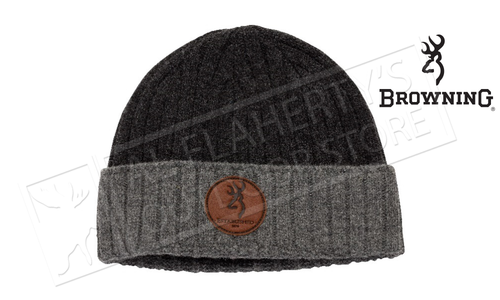 Browning Beanie Two-Tone Wool Cap with Leather Patch #308808791