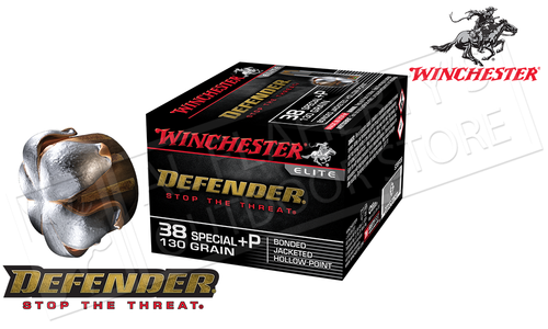 Winchester 38 Special +P PDX1 Defender, Bonded JHP 130 Grain Box of 20 #S38PDB