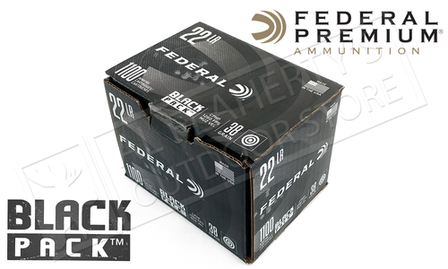 Federal Black Pack 22LR - 38 Grain JHP 1100 Round Box #788BF1100