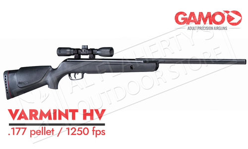 Gamo Varmint Air Rifle with 4x32mm Scope, .177 Caliber Pellet 1250 fps #6110017154