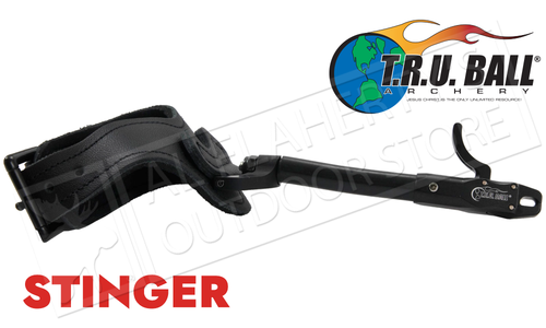 T.R.U. Ball Archery Stinger Caliper Release, Rated to 100lbs, Black with Super Stinger Buckle #TSBR-BK