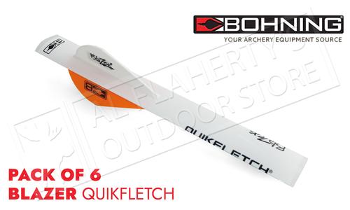 Bohning Blazer QuikFletch Shrink Fletch - Neon Orange #101001NO