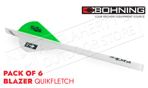 Bohning Blazer QuikFletch Shrink Fletch - Neon Green #101001NG
